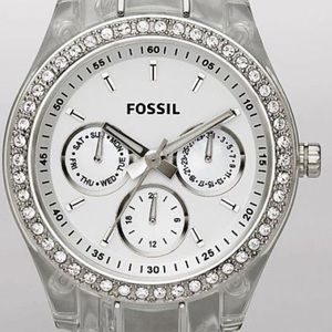 Clear Resin Fossil Watch es2364
